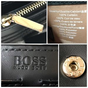 Hugo Boss Bags - HUGO BOSS Calfskin Bow Continental Wallet / Clutch